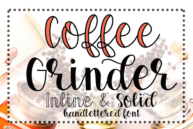 Coffee Grinder - Inline & Solid - Caps & Script example image 2