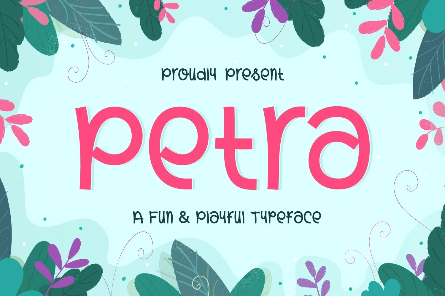 Petra - Fun and Playful Typeface example image 1