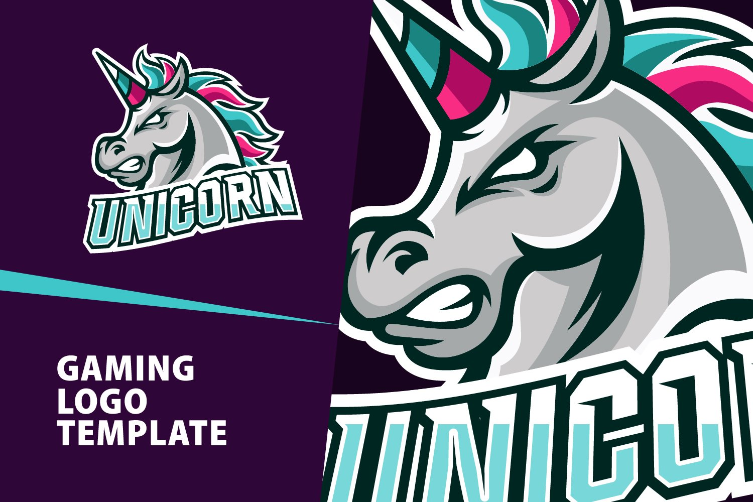 Unicorn Gaming Logo Template 511372 Logos Design Bundles