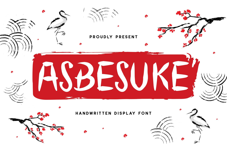 Abesuke Display Font example image 1