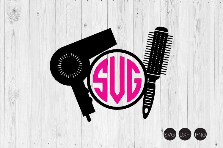 Download Hairdresser Monogram Svg Hairstylist Svg Dxf Png Cut File 190476 Cut Files Design Bundles