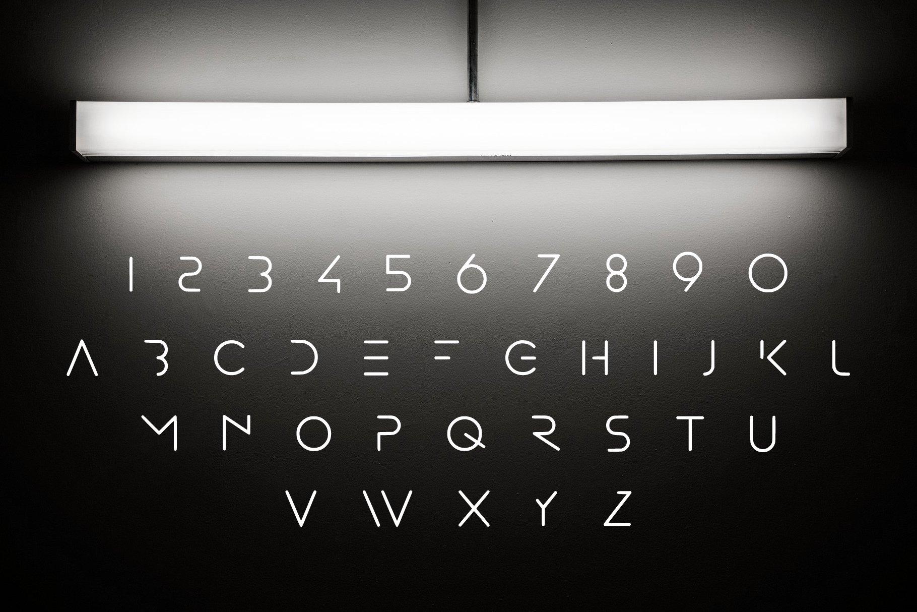 MINIMAL - modern futuristic font example image 3