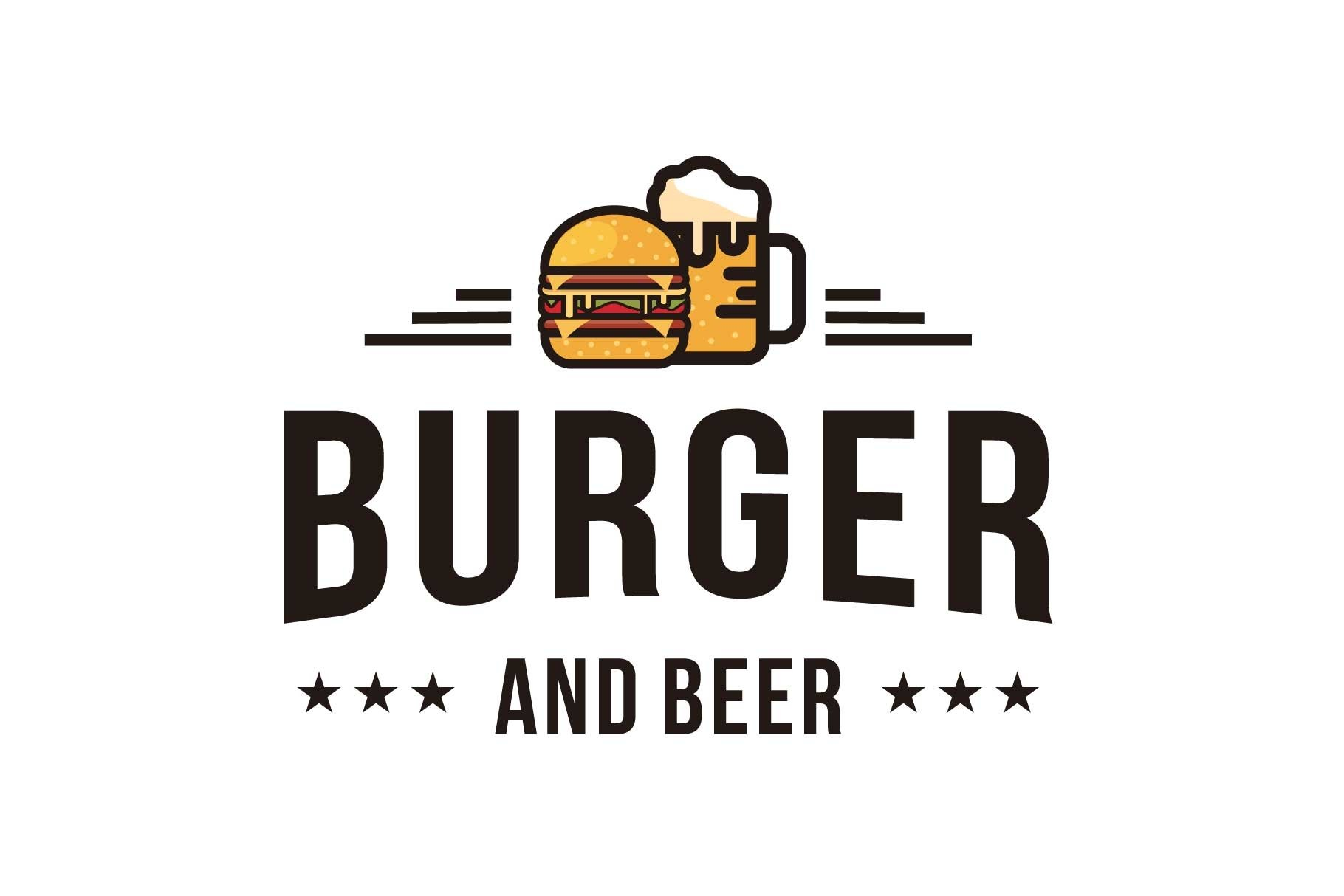 Burger And Beer Logo Design Inspiration 1136806 Logos Design Bundles