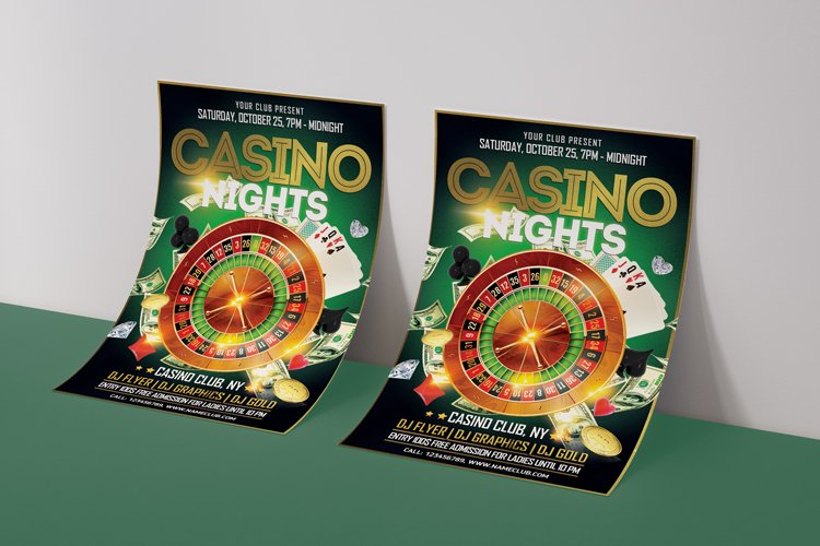 Casino Night Flyer 2 example image 3