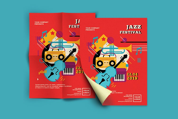 JAZZ FESTIVAL FLYER OR POSTER example image 2