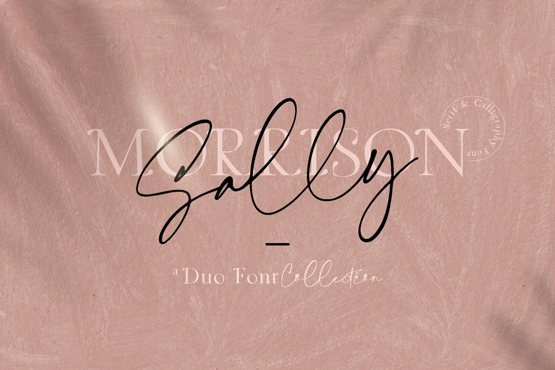 Sally Morrison Script & Serif example image 1