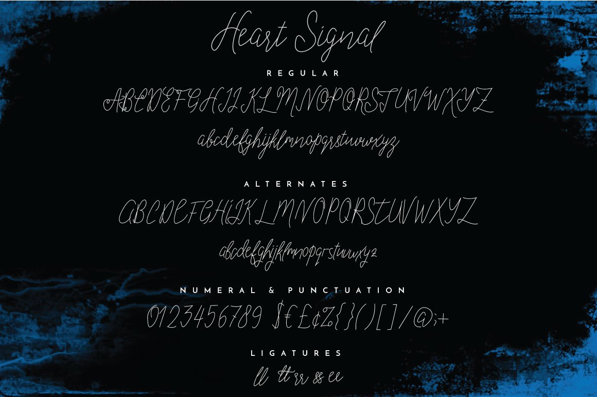 Heart Signal Typeface example image 5