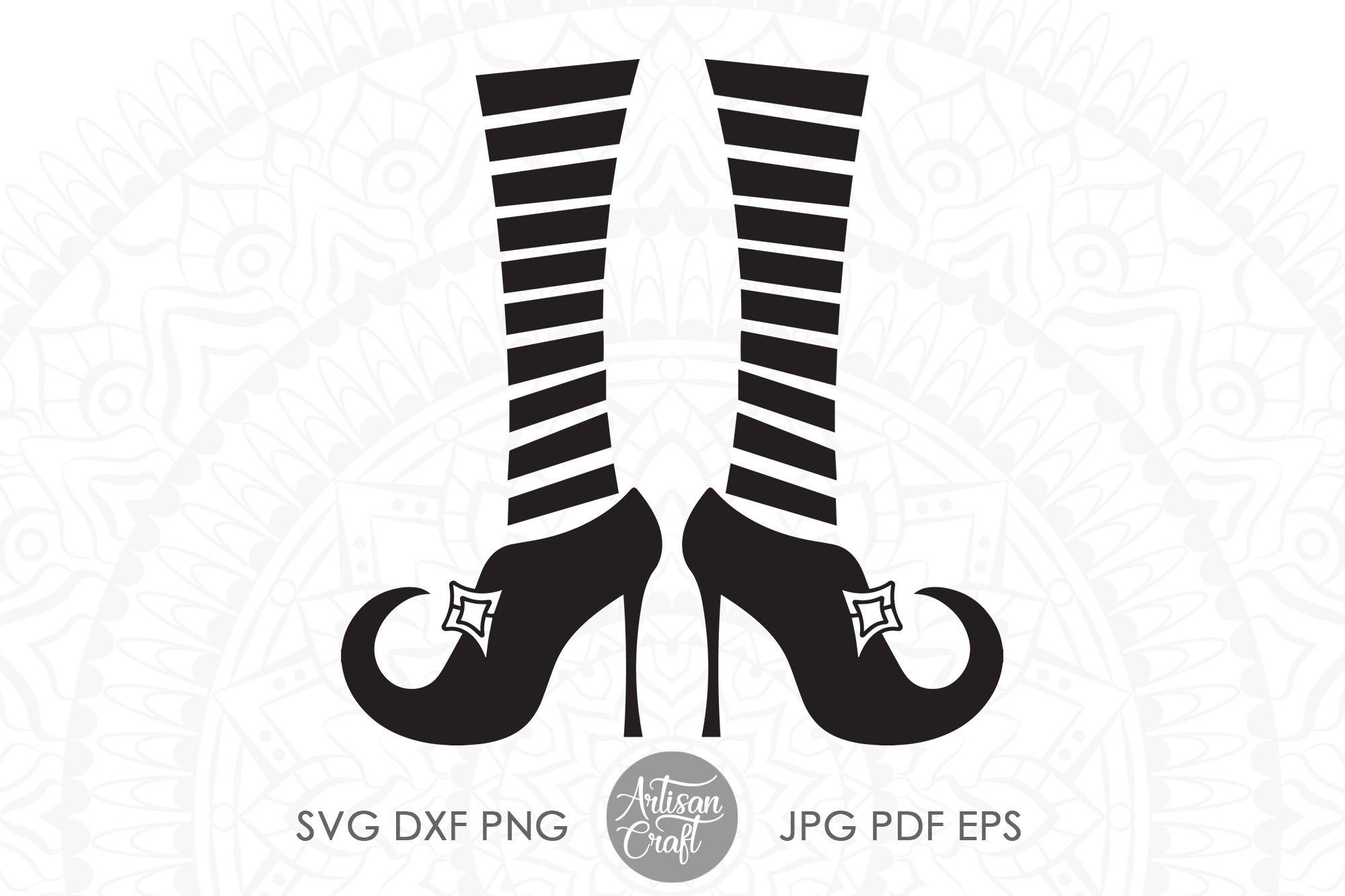 Halloween Witch Witches Legs Svg Clip Art High Heels 706984 Cut Files Design Bundles