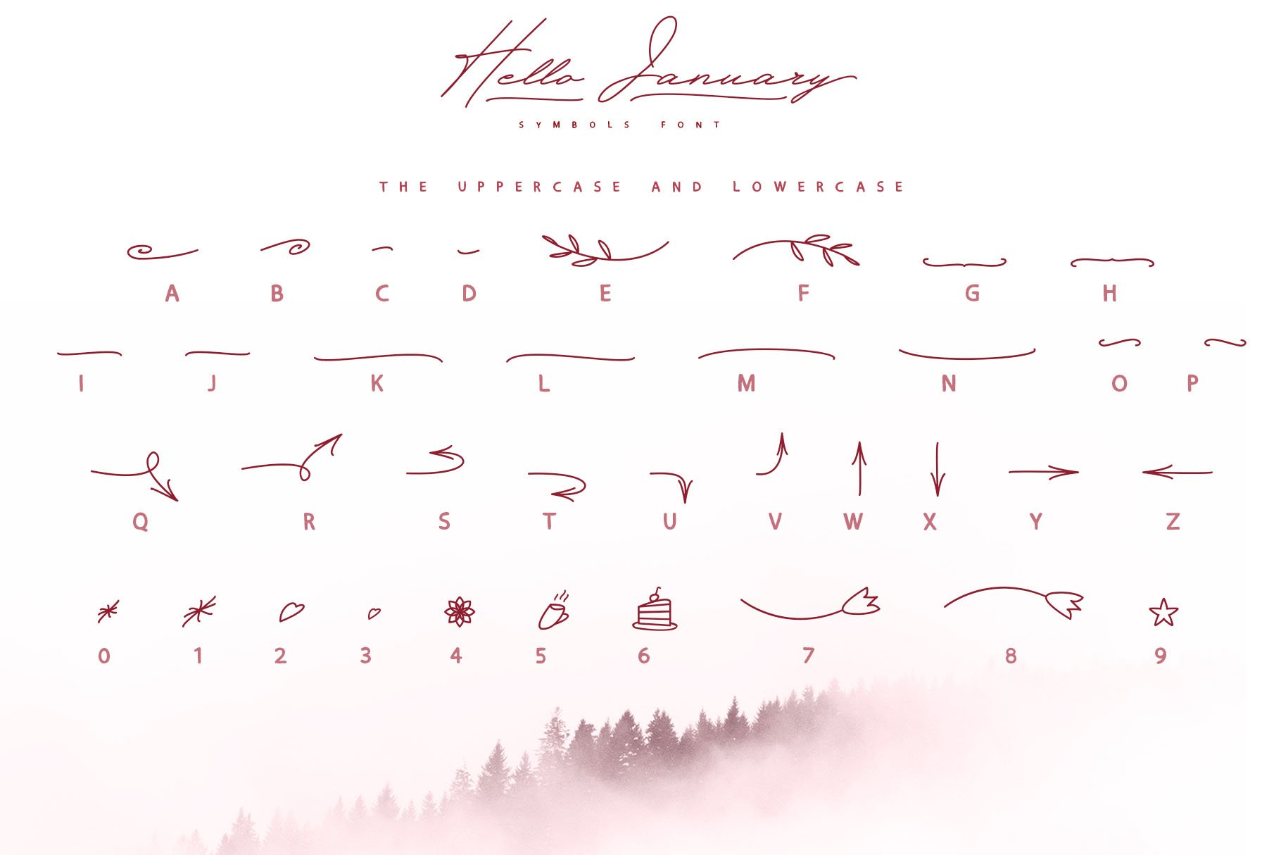 Hello January cursiv font Cyrillic example image 4