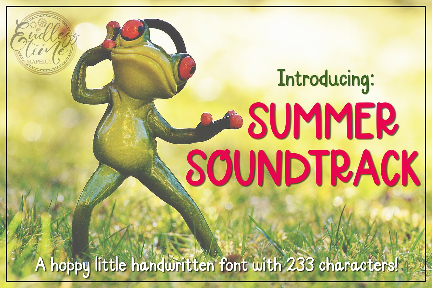 Summer Soundtrack - A Hoppy Little Handwritten Font example image 1