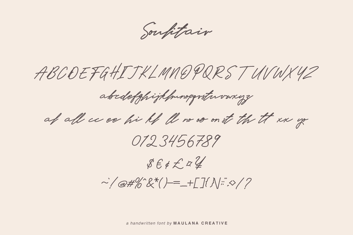 Soulitair Signature Font example image 9