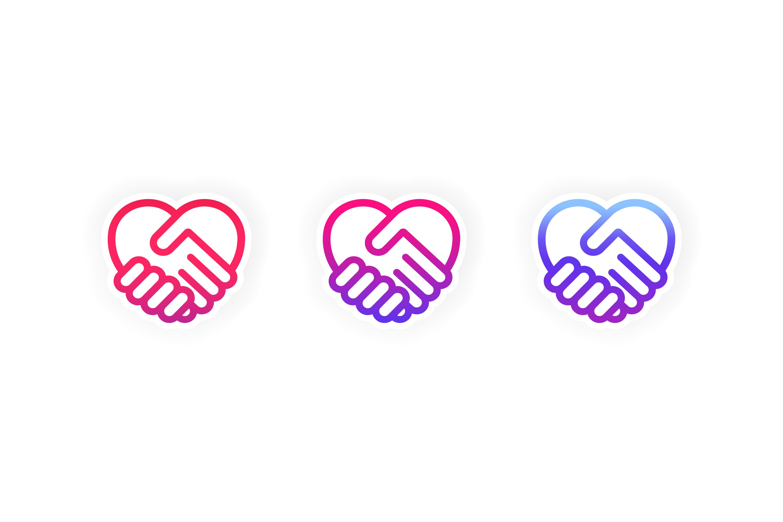 Heart Shape Icon Handshake Symbol Friendship Day Love 923994 Icons Design Bundles