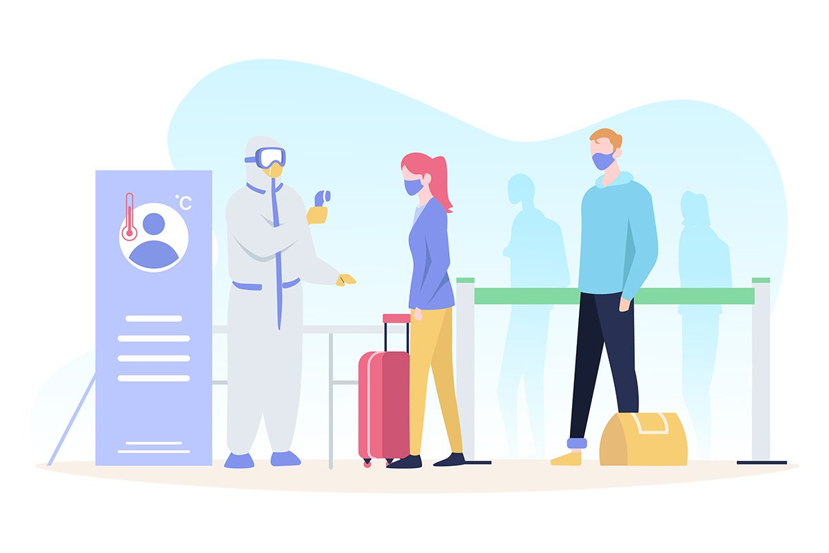 Temperature check at airport example image 1
