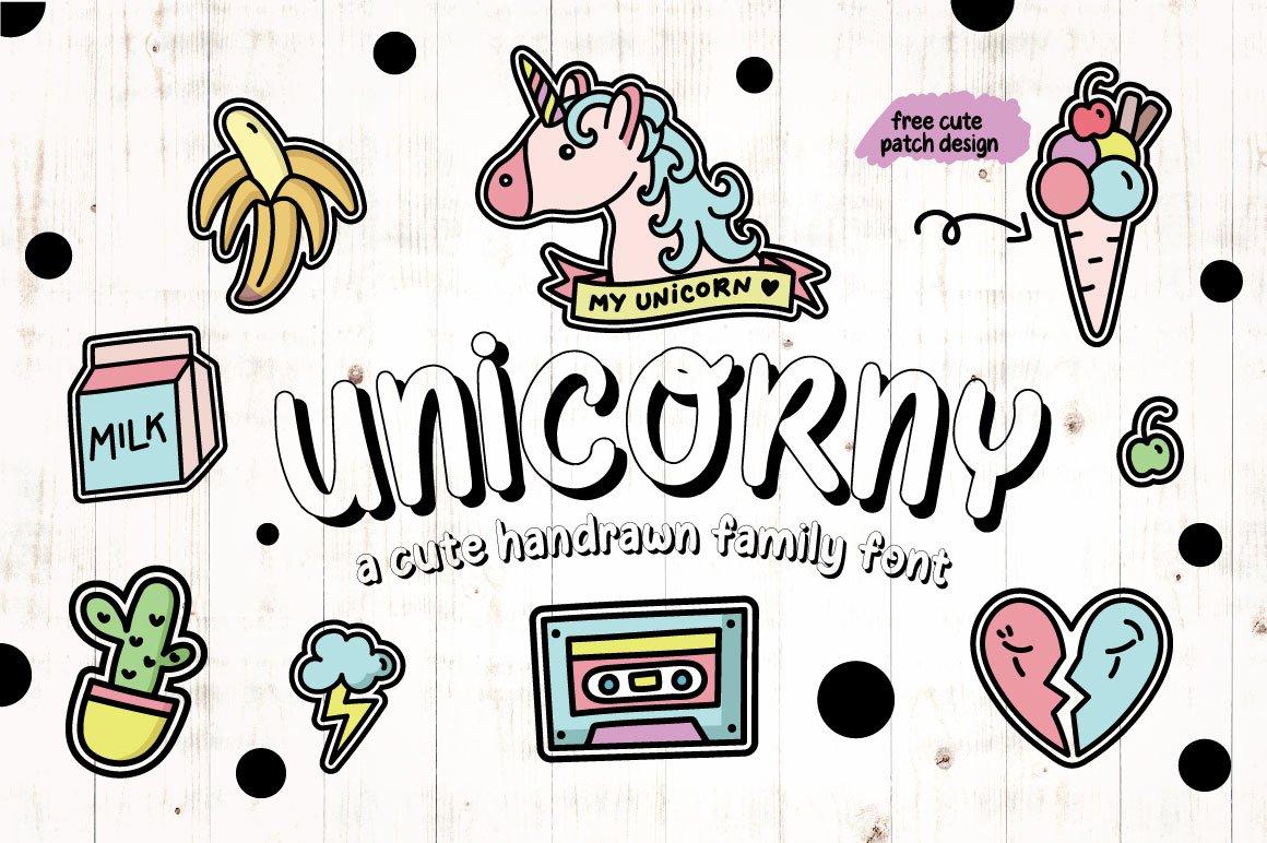 Unicorny Typeface example image 1