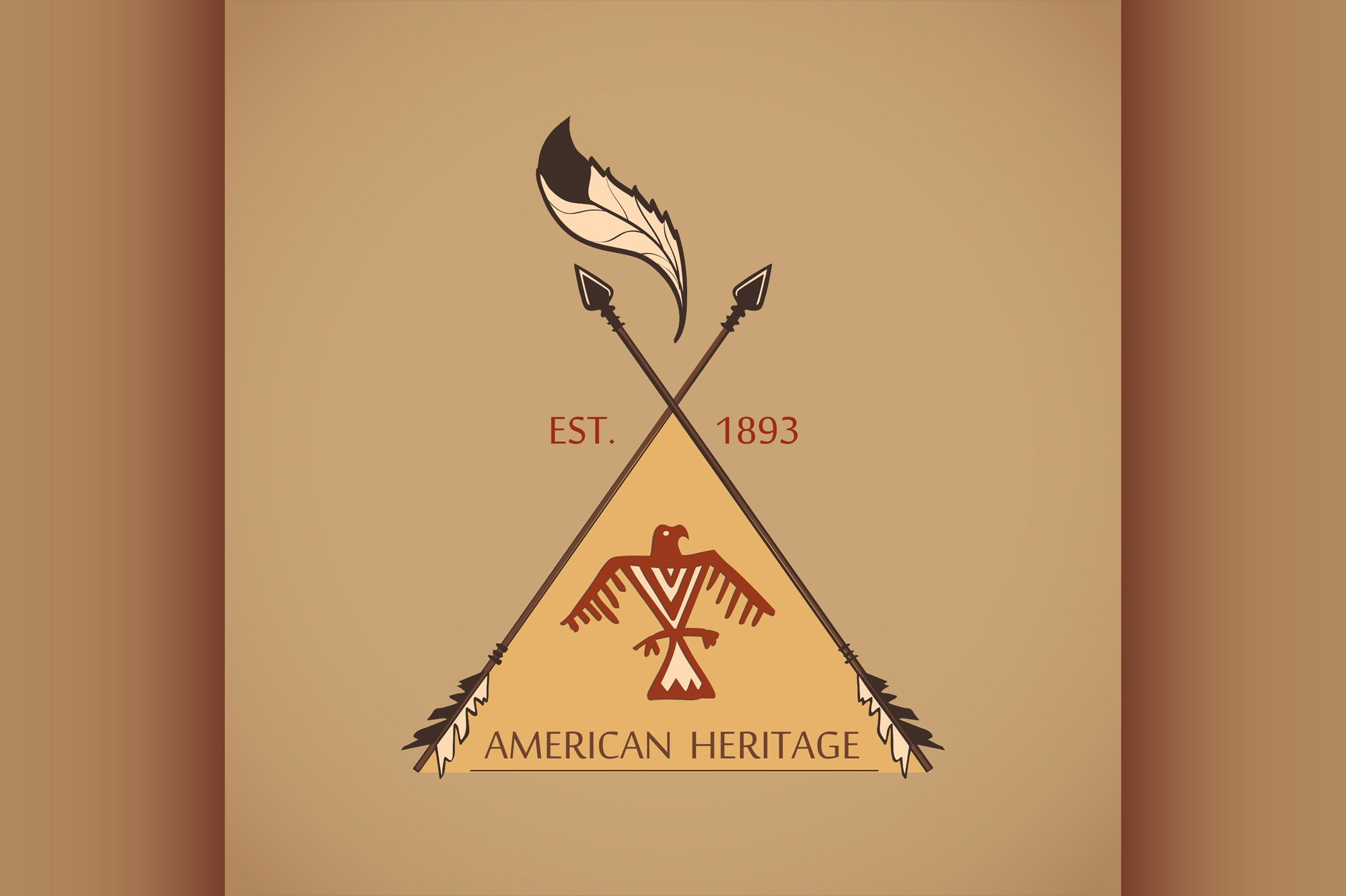 American indian emblems and labels example image 1