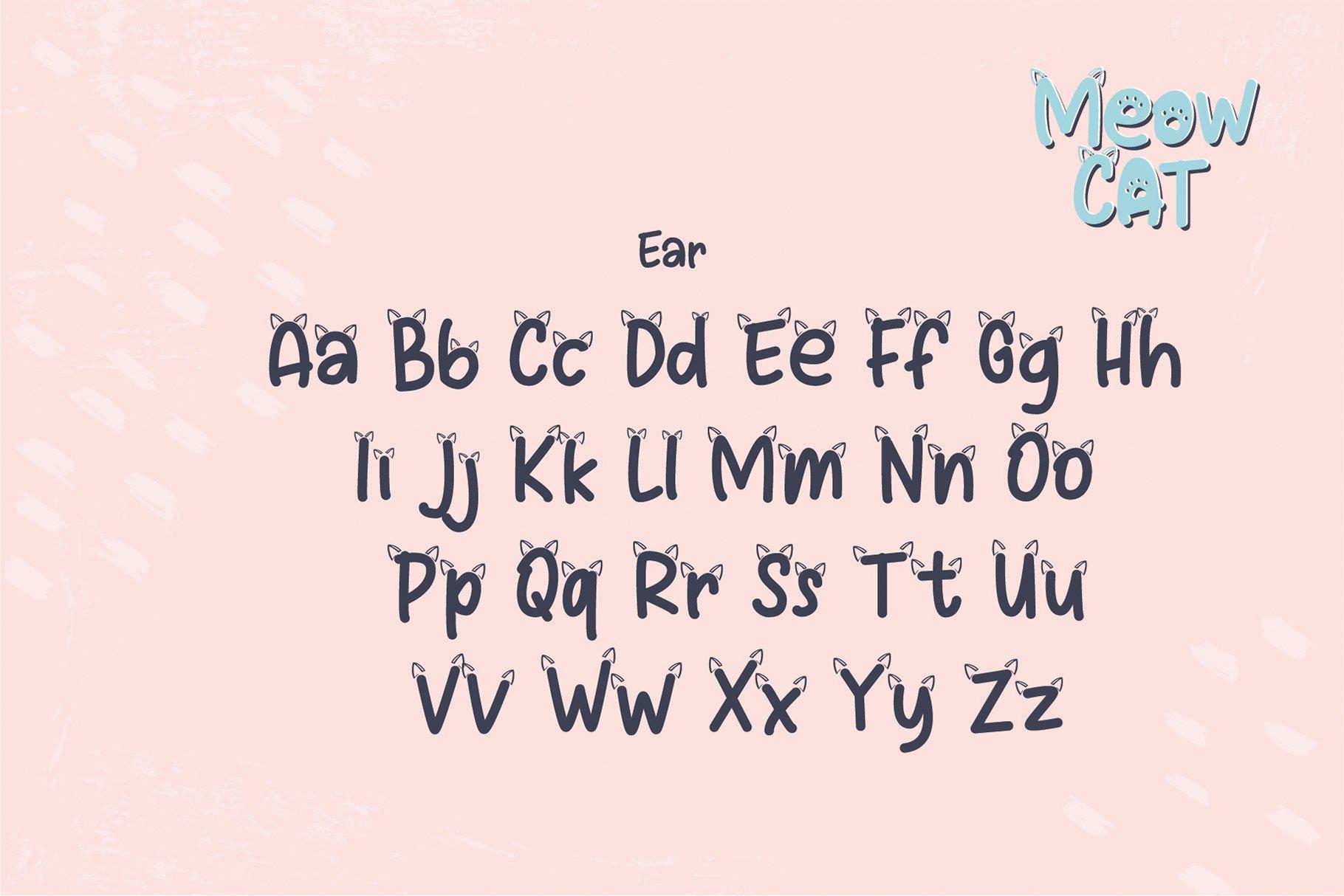 Cat Meow - 3 Font Plus Bonus Clip Arts example image 6