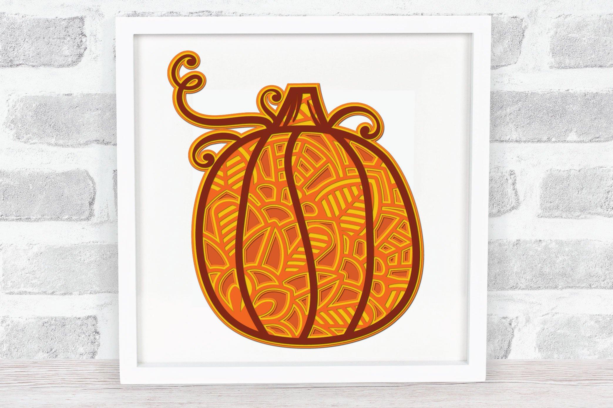 3D Layered Pumpkin SVG | Fall Multi Layer| Autumn Cut File example image 4
