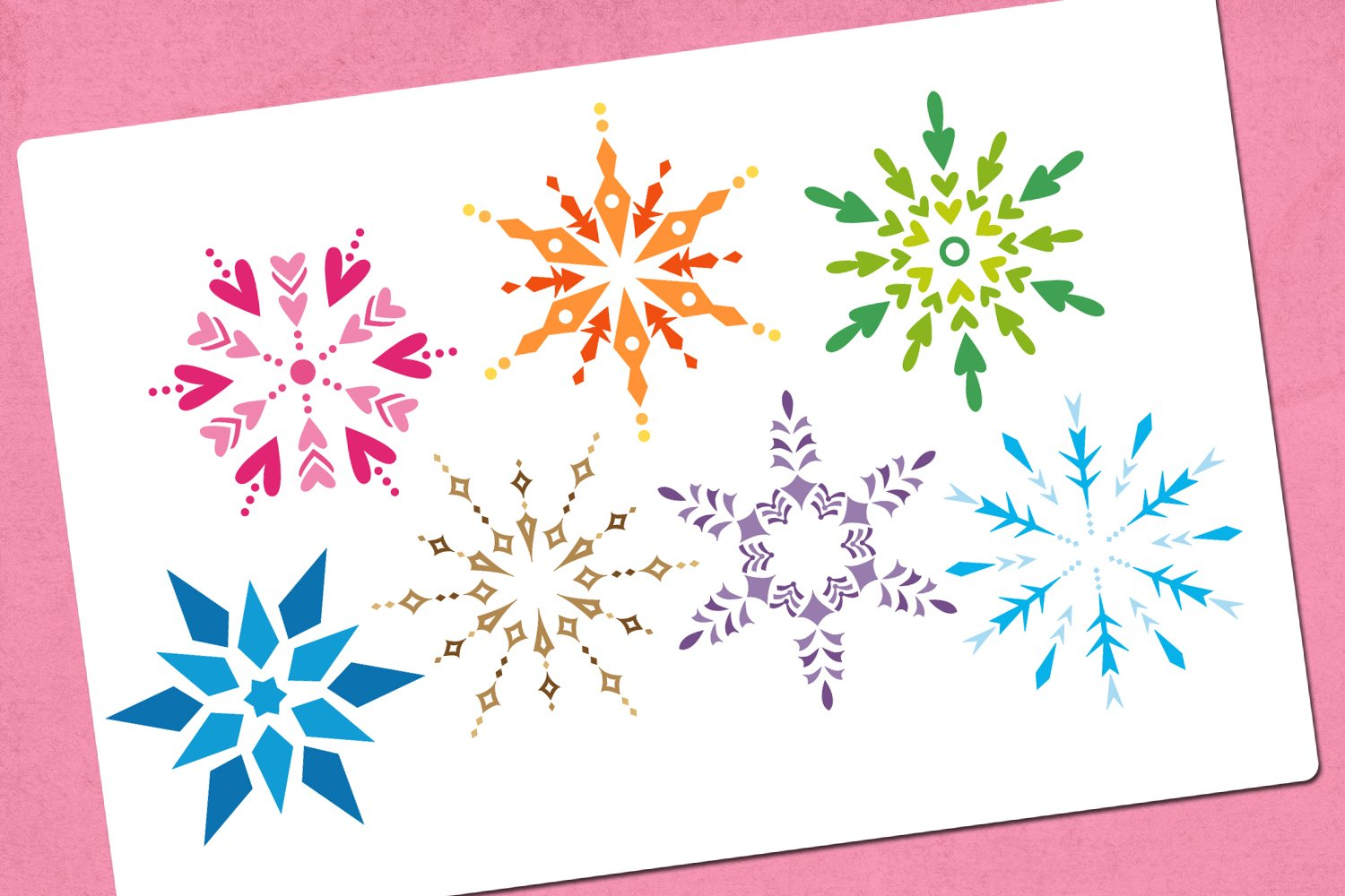 Winter snowflakes illustrations example image 2