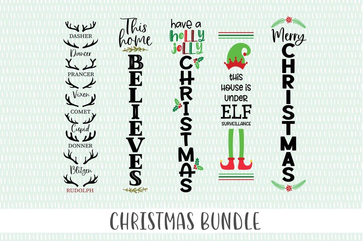 Christmas Verticle Sign SVG Bundle