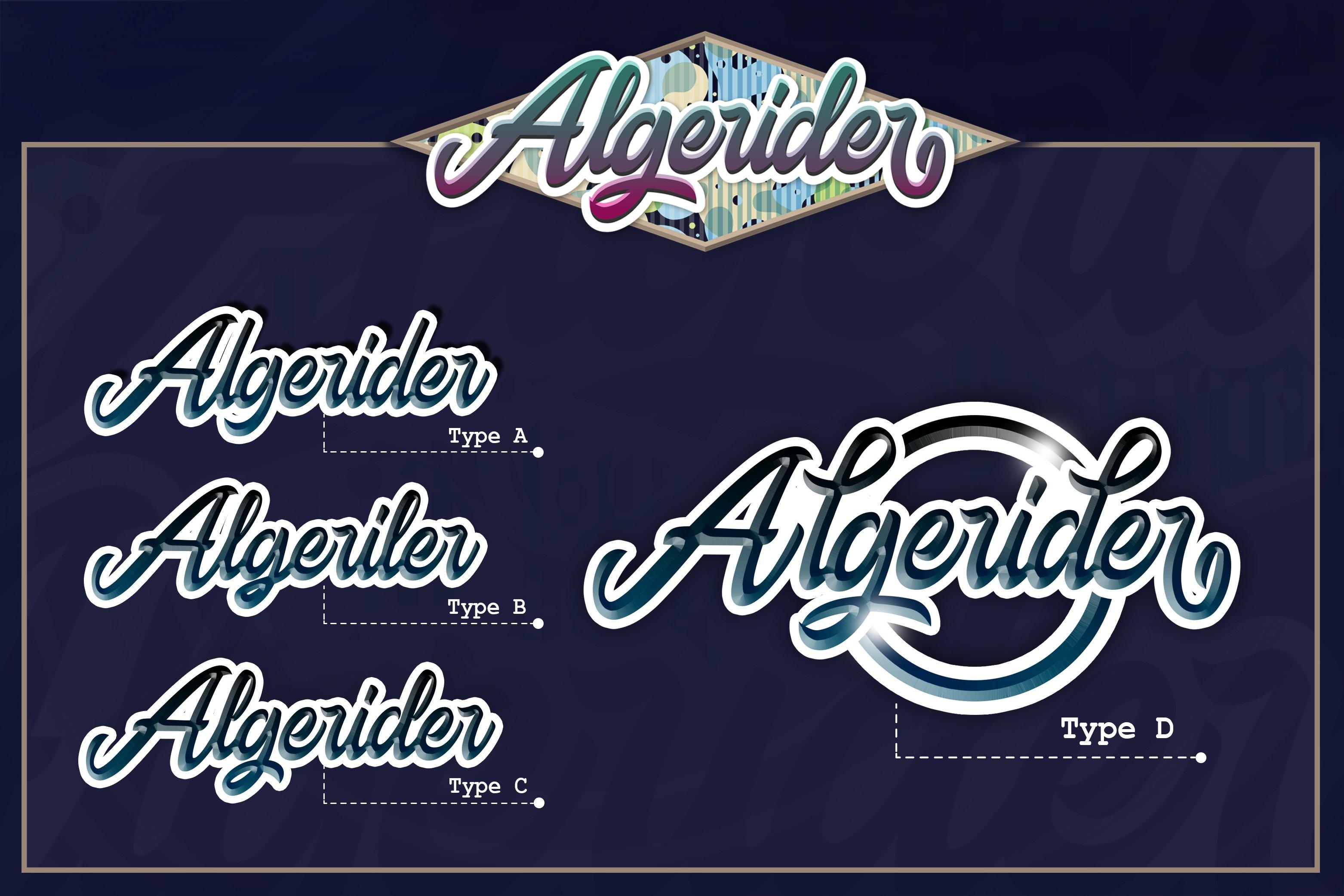Algerider Script example image 7