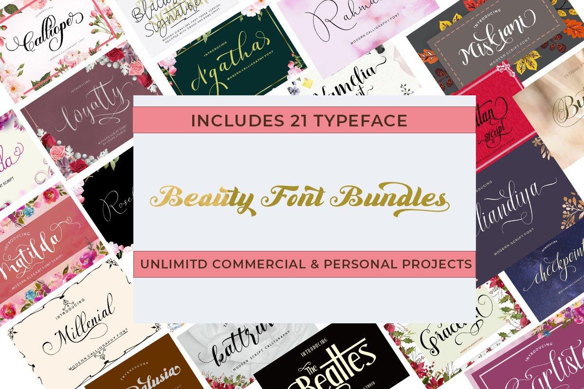 Beauty Font Bundles example image 1