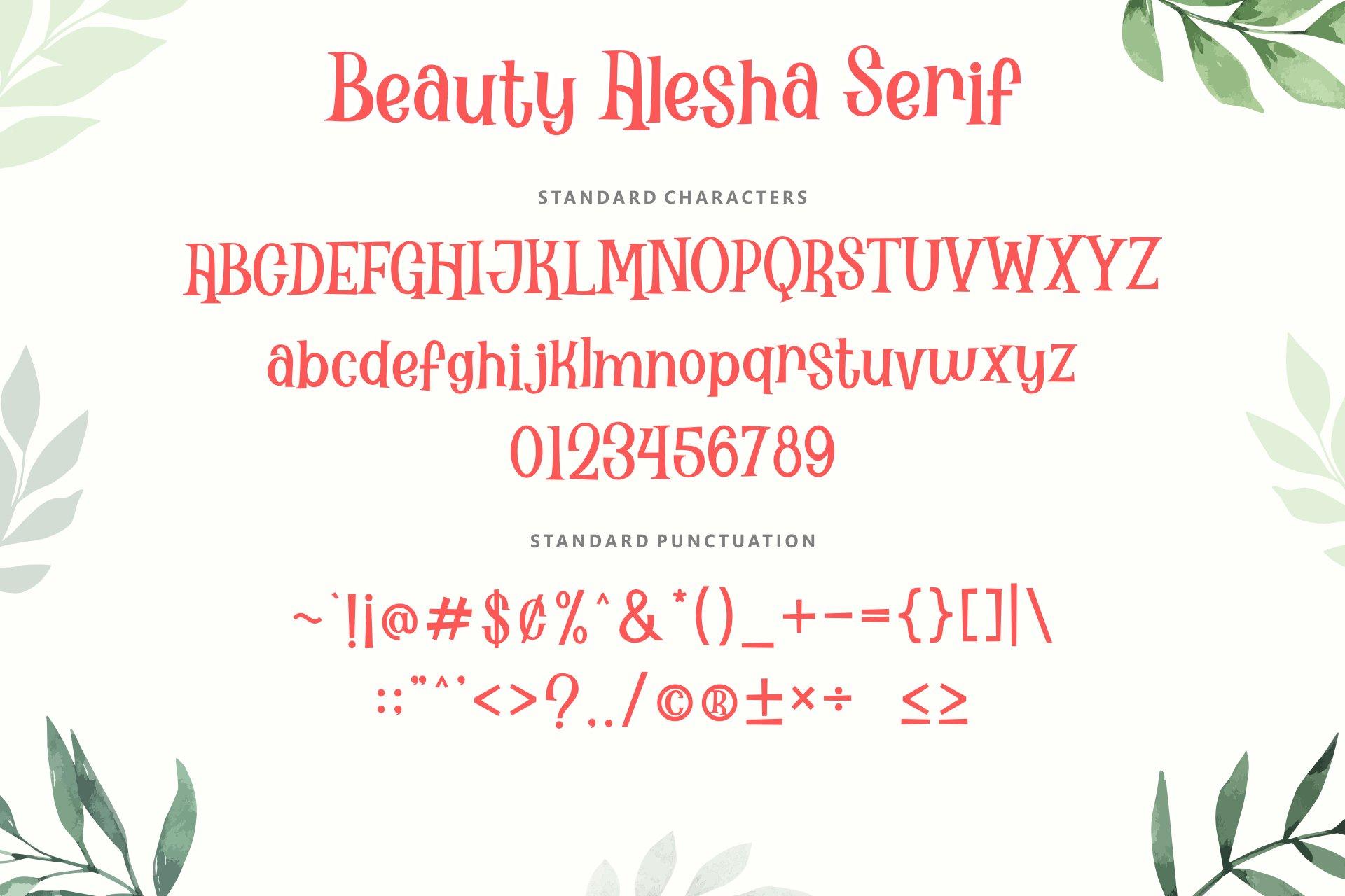 Beauty Alesha Font Duo example image 4