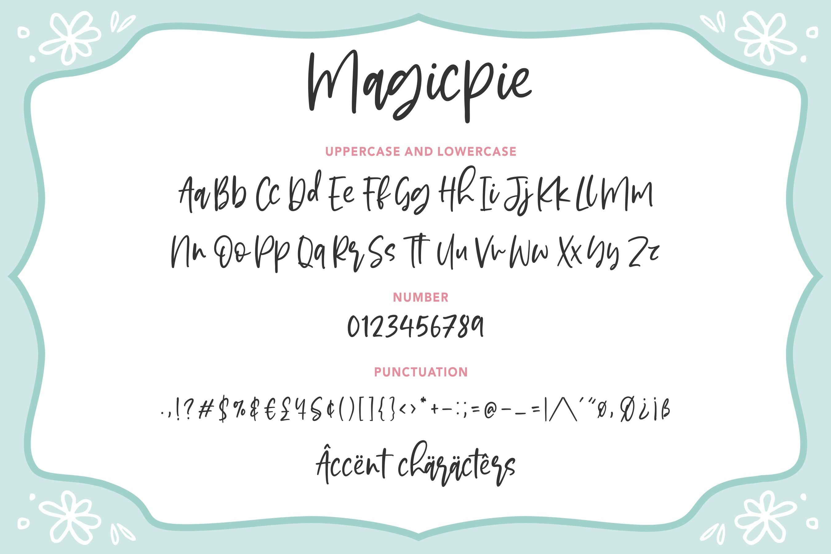 Magicpie Beautiful Calligraphy example image 6