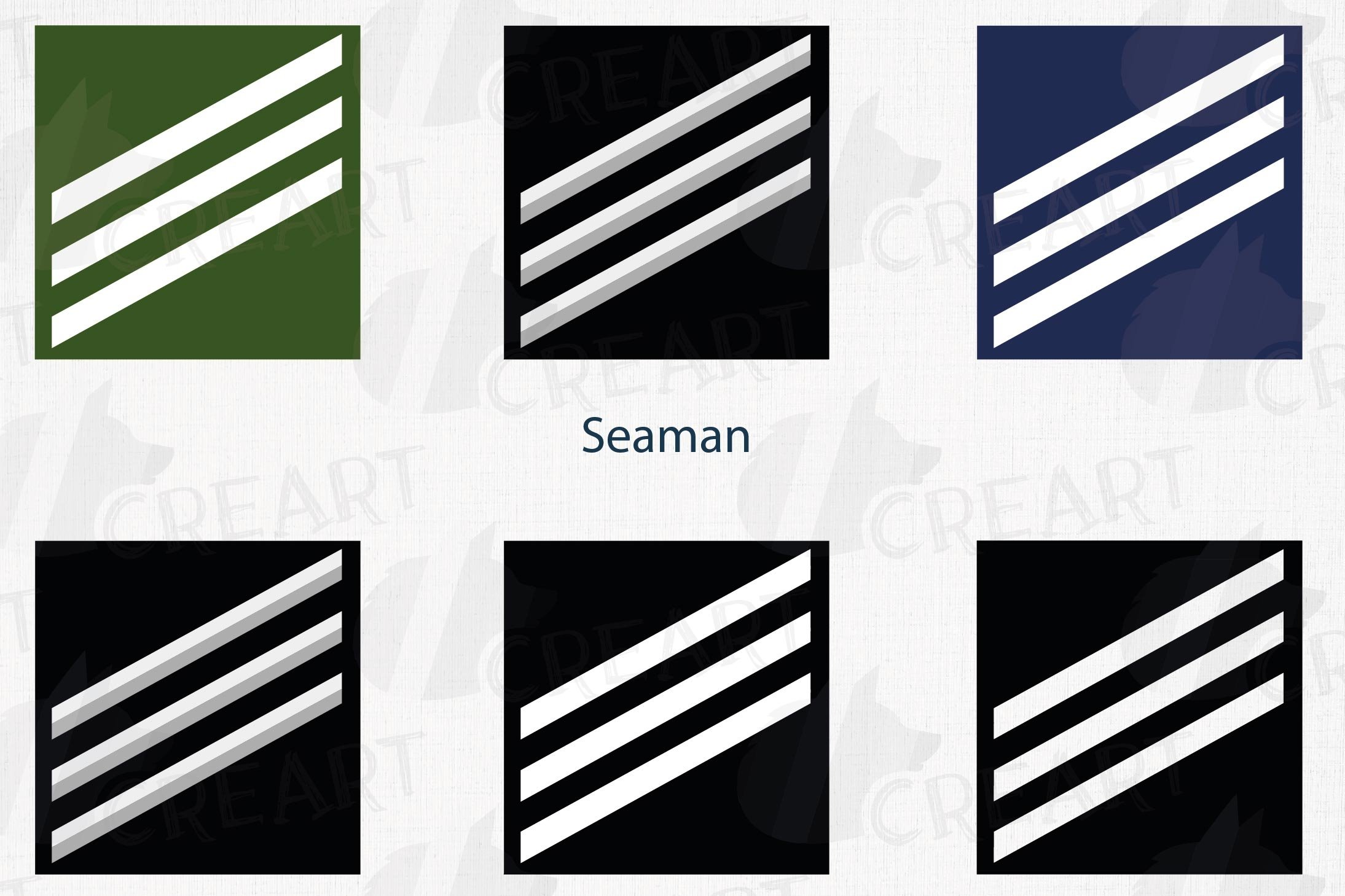 Seaman United States rank insignia printable clip art pack example image 1