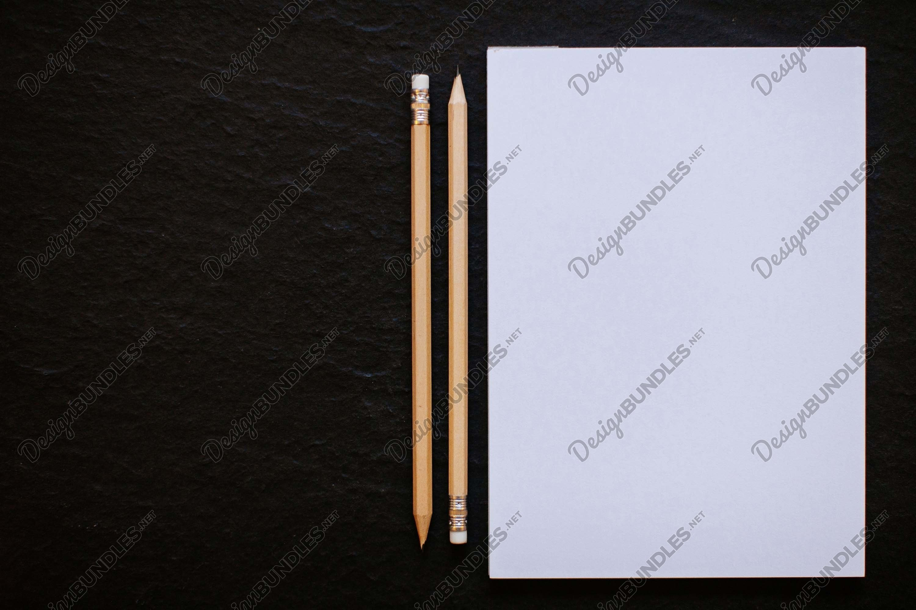 Stock Photo - Blank sheet in pencil example image 1