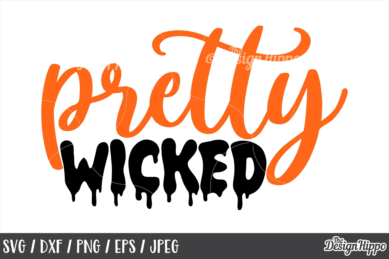 Pretty Wicked Svg Halloween Kids Girls Wicked Cut Files 152886 Cut Files Design Bundles