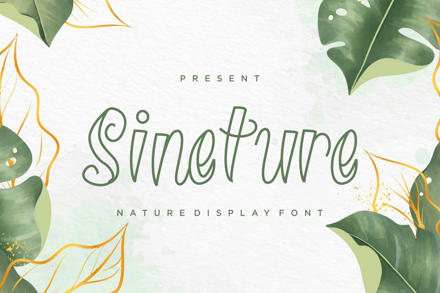 Sineture - Nature Display Font example image 1