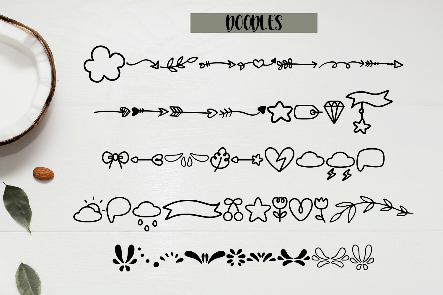 Think Twice - A font duo with doodles example image 3
