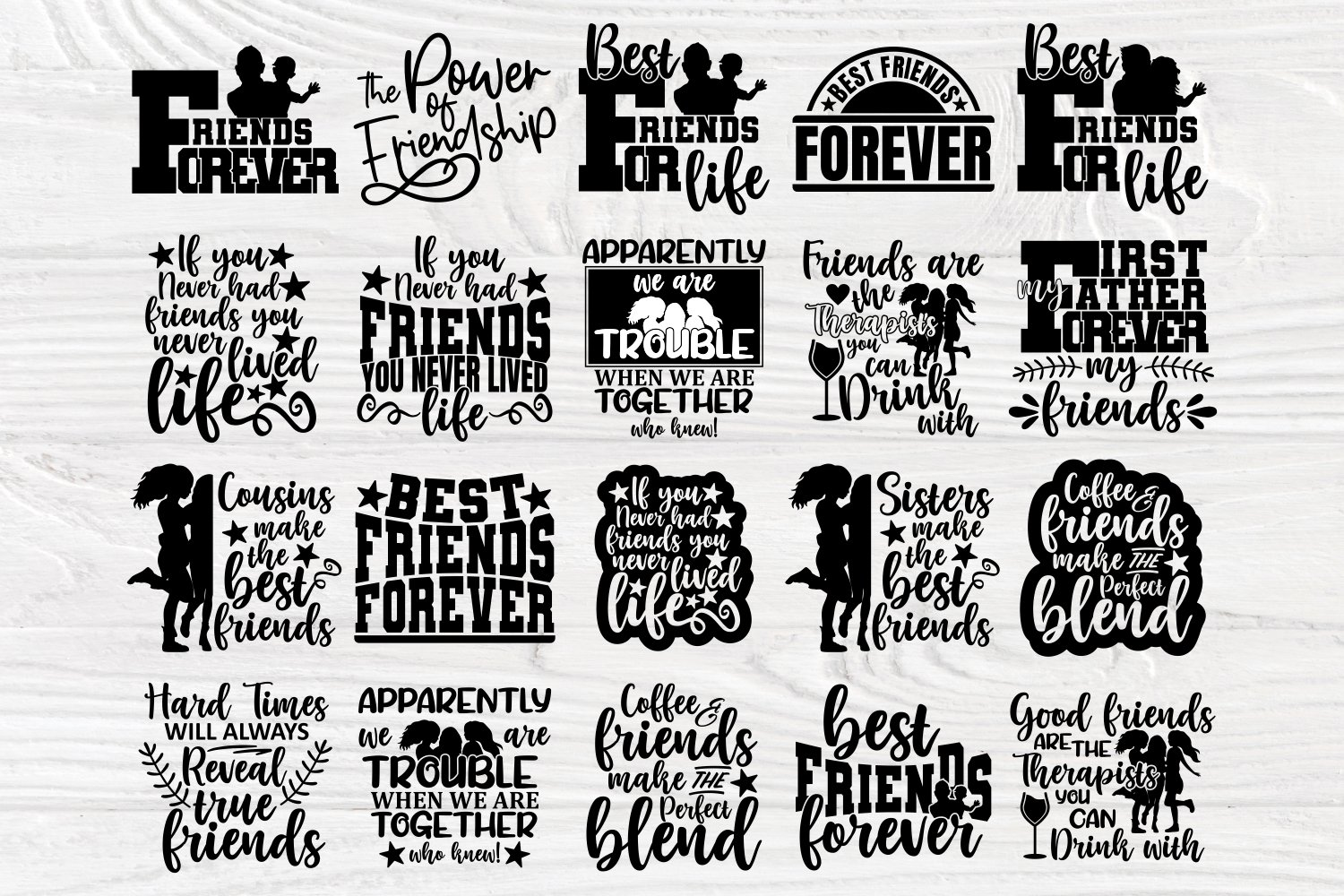 Friends Svg Cut Files, Friendship Svg Bundle, Shirt Designs example image 5