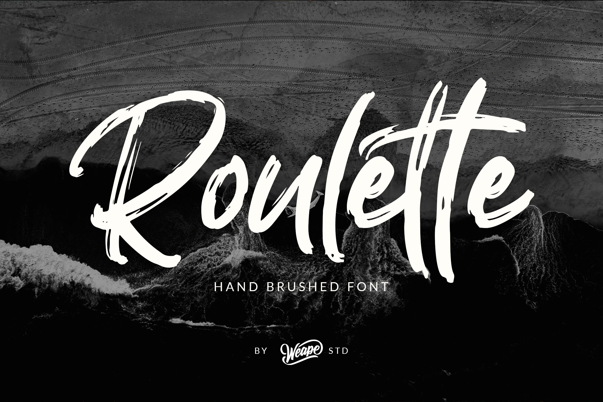 Roulette - Hand Brushed Font example image 1