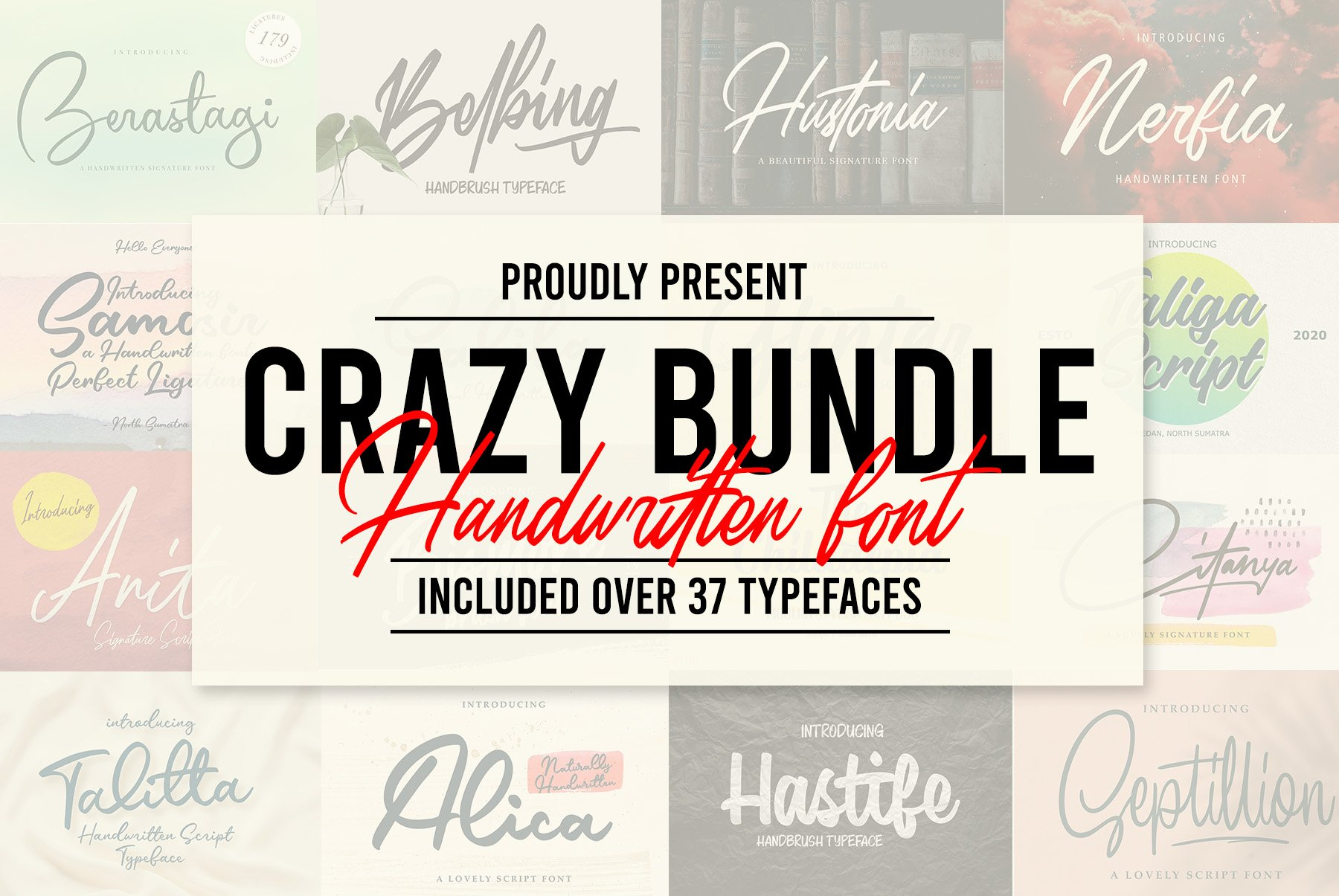 CRAZY BUNDLE - Handwritten Font example image 1