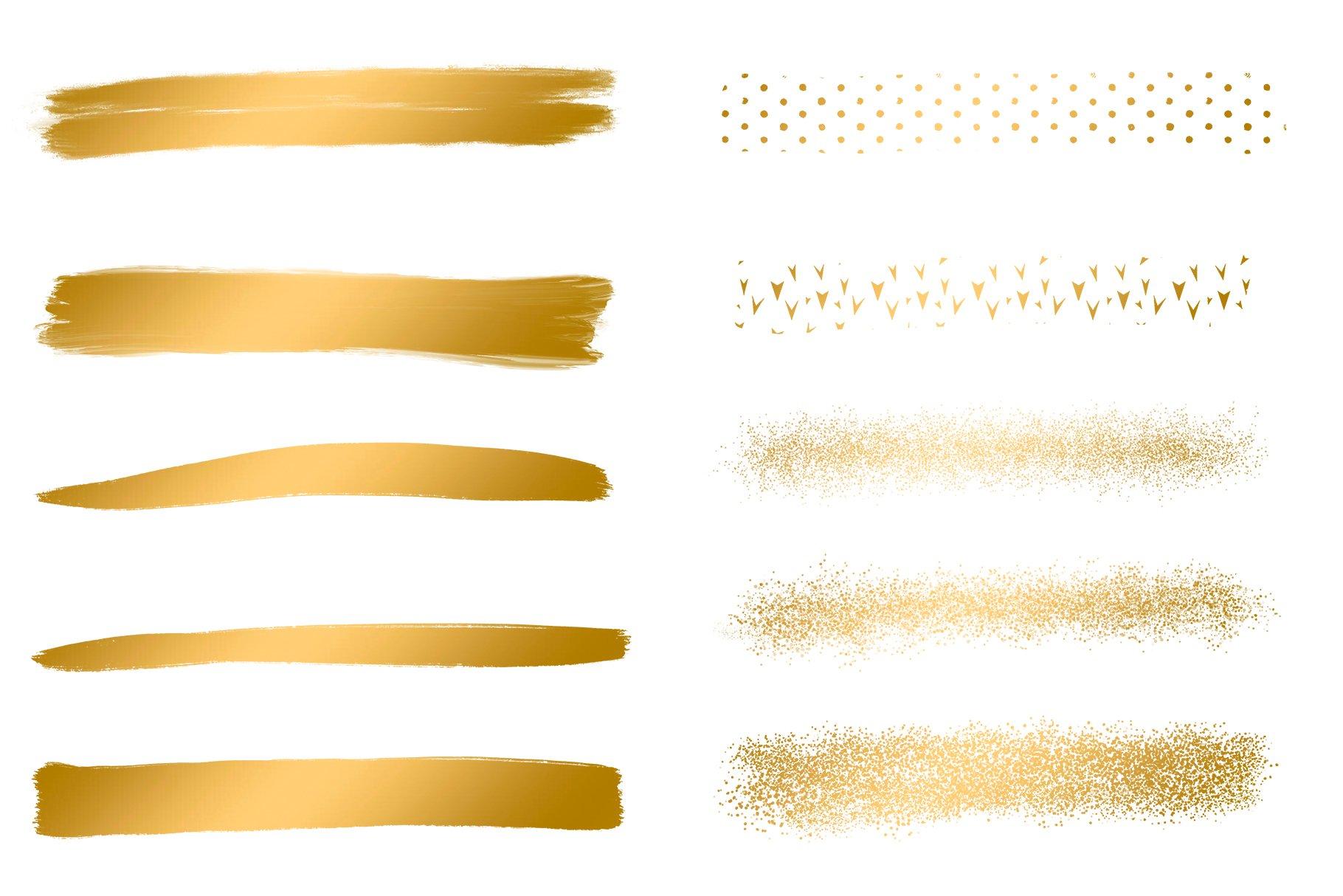 Gold Brush Strokes, Brush Strokes example image 3