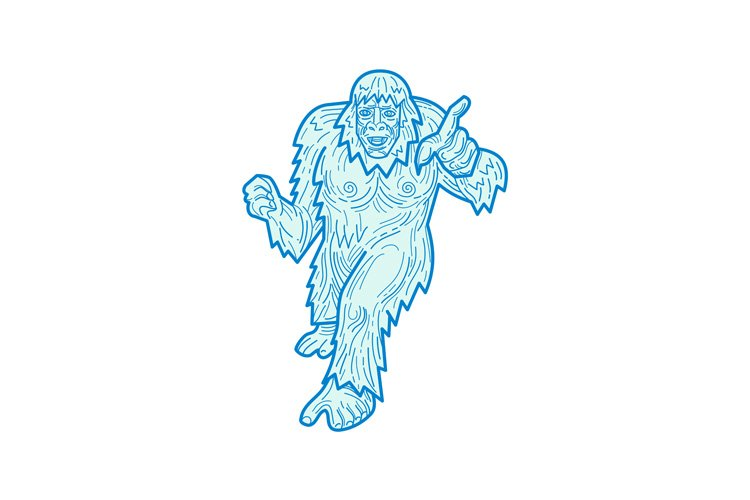 Yeti Or Abominable Snowman Mono Line 139157 Illustrations Design Bundles