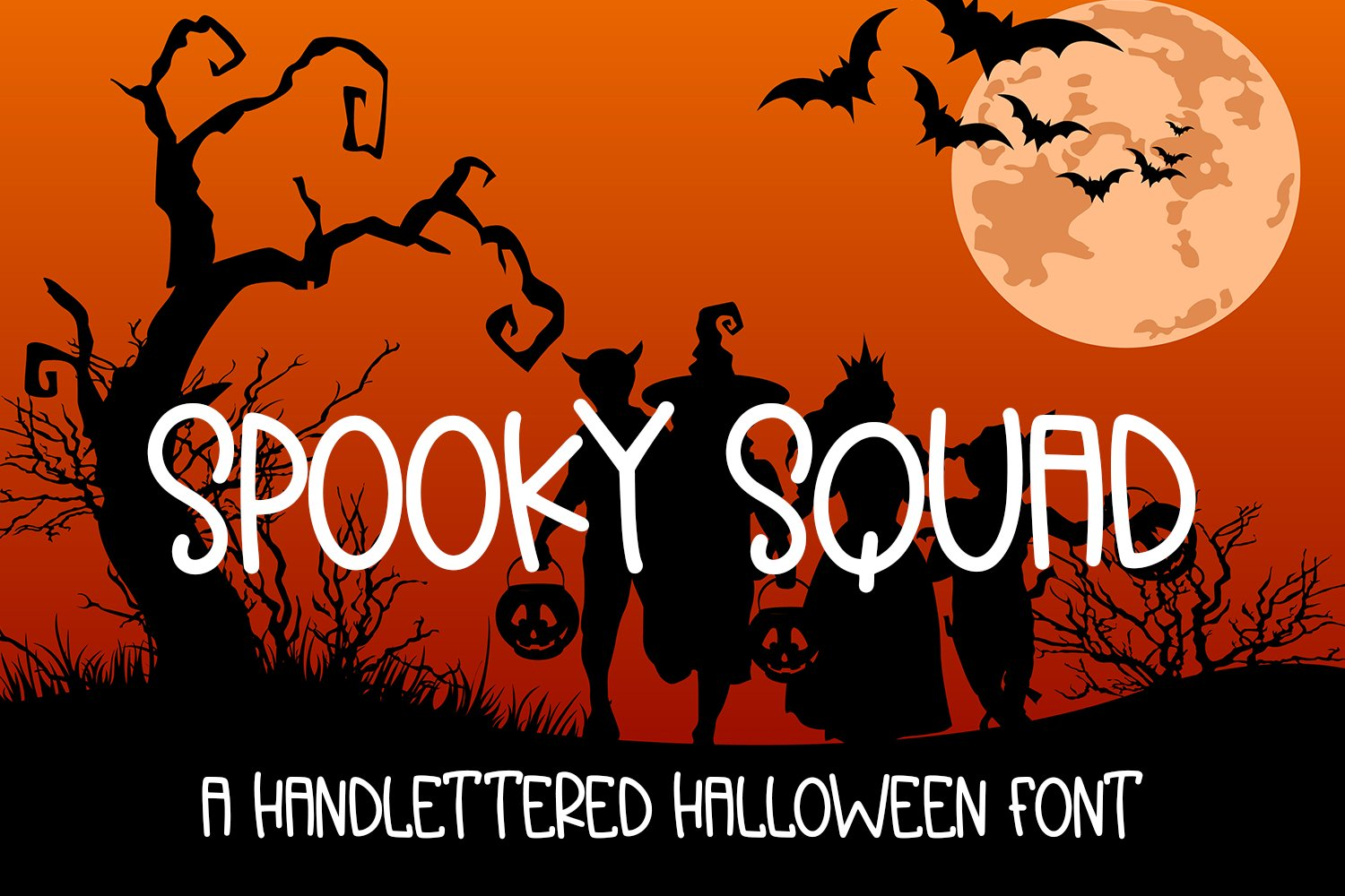 Spooky Squad - A Hand-Lettered Halloween Font example image 1