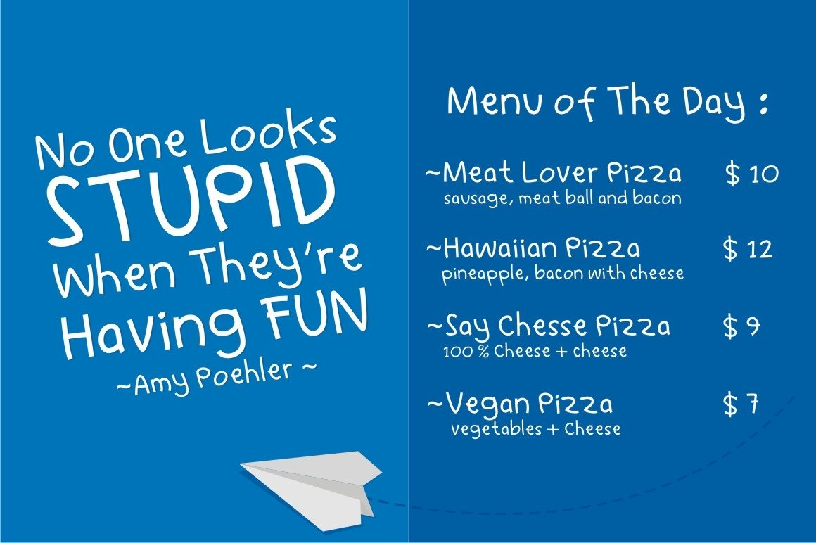 Learn to Fly - Fun Cartoon Font example image 5