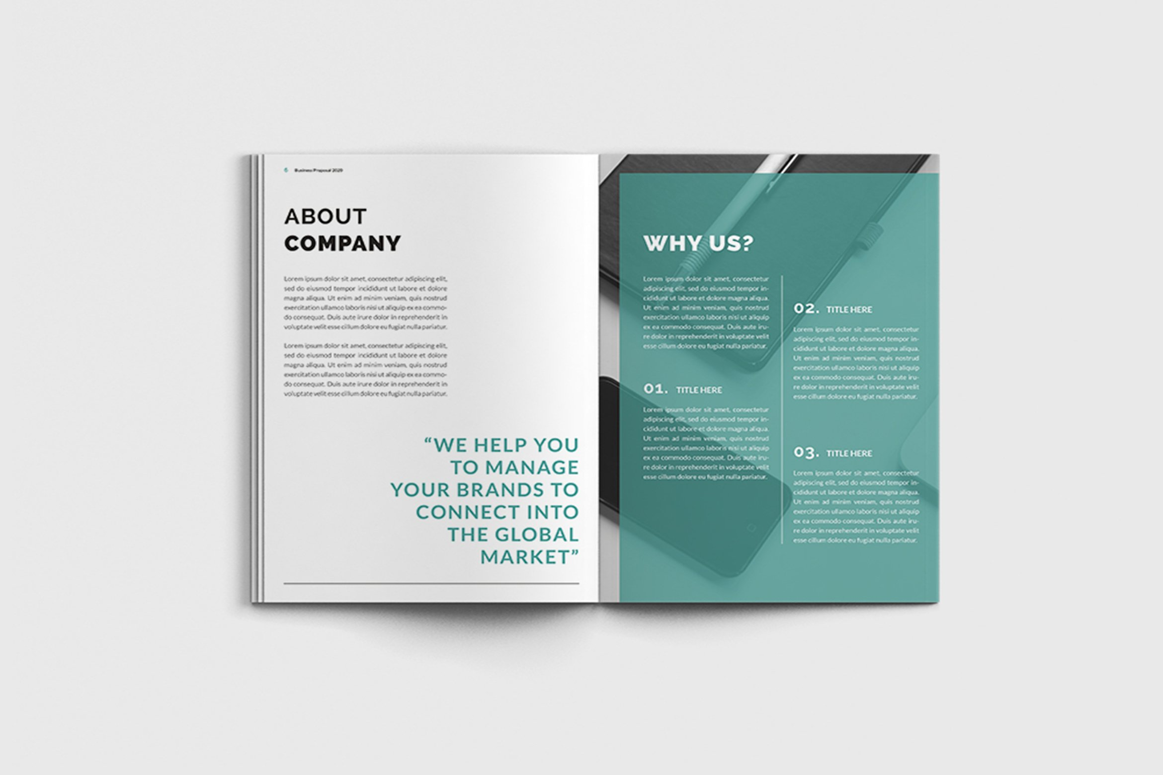 Mager - A4 Management Brochure Template example image 8