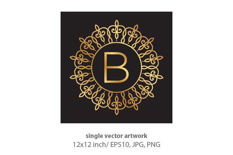 Letter b, inside luxury frame example image 1