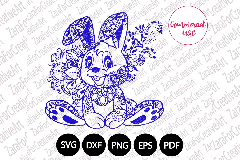 Mandala Bunny SVG Bunny svg Zentangle Svg Mandala svg Mandala Clipart Mandala Rabbit Svg Easter Svg Tribal Bunny Svg Rabbit Svg