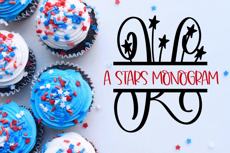 A Stars Split American Monogram Font example image 4