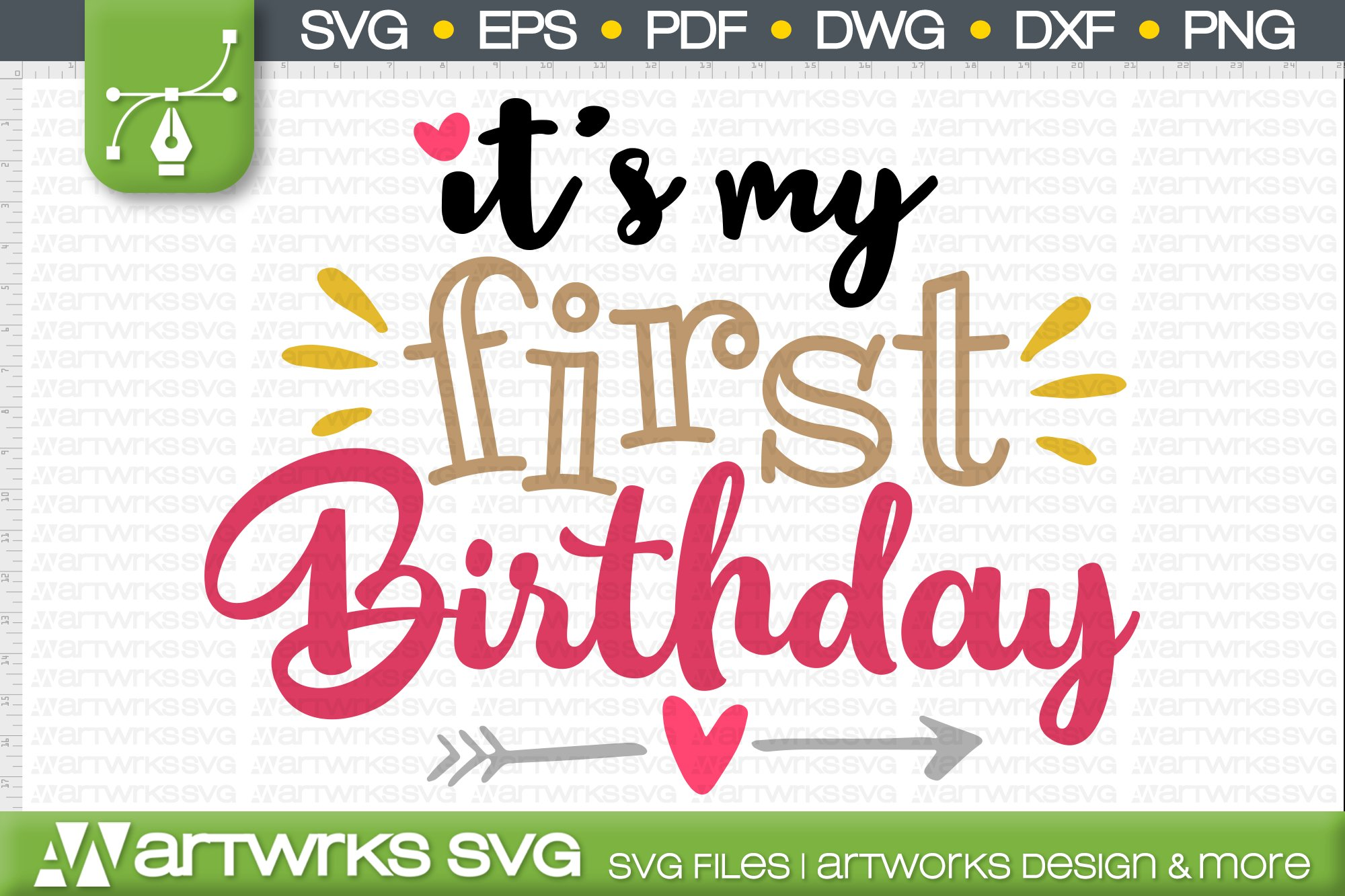 1st Birthday Svg Files For Cricut It S My First Birthday 545854 Cut Files Design Bundles