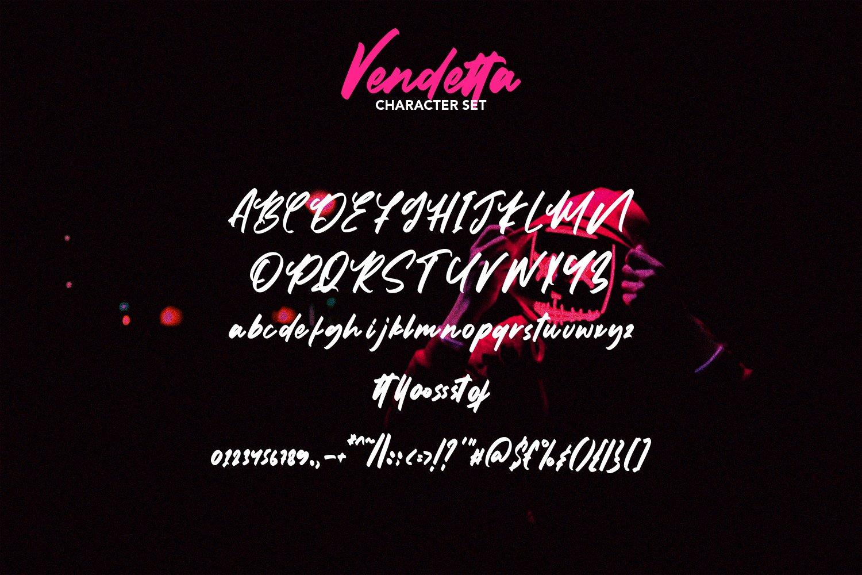Vendetta - Brush Script Font example image 7