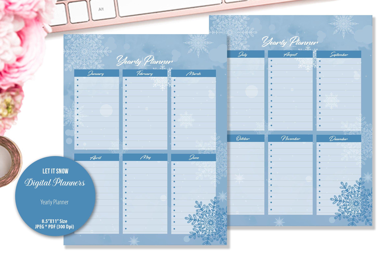 Let It Snow Digital Planner example image 5
