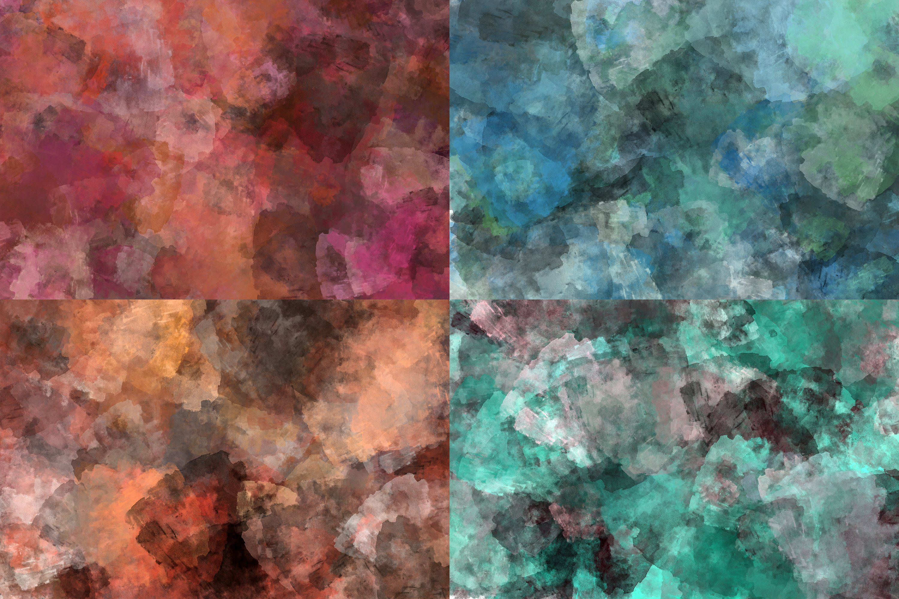 10 Grunge Watercolor Washes Textures example image 5