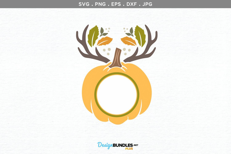 Pumpkin with Antlers Monogram example image 2