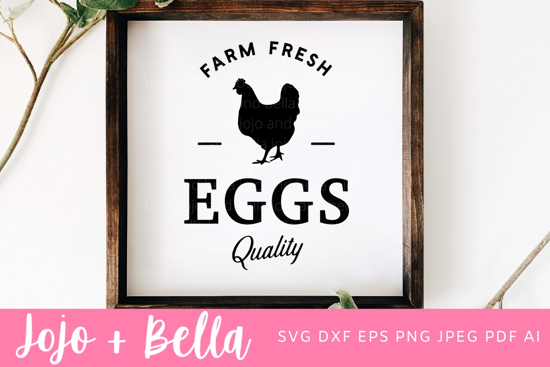 Farm Fresh Eggs Svg Farmhouse Svg 918787 Cut Files Design Bundles