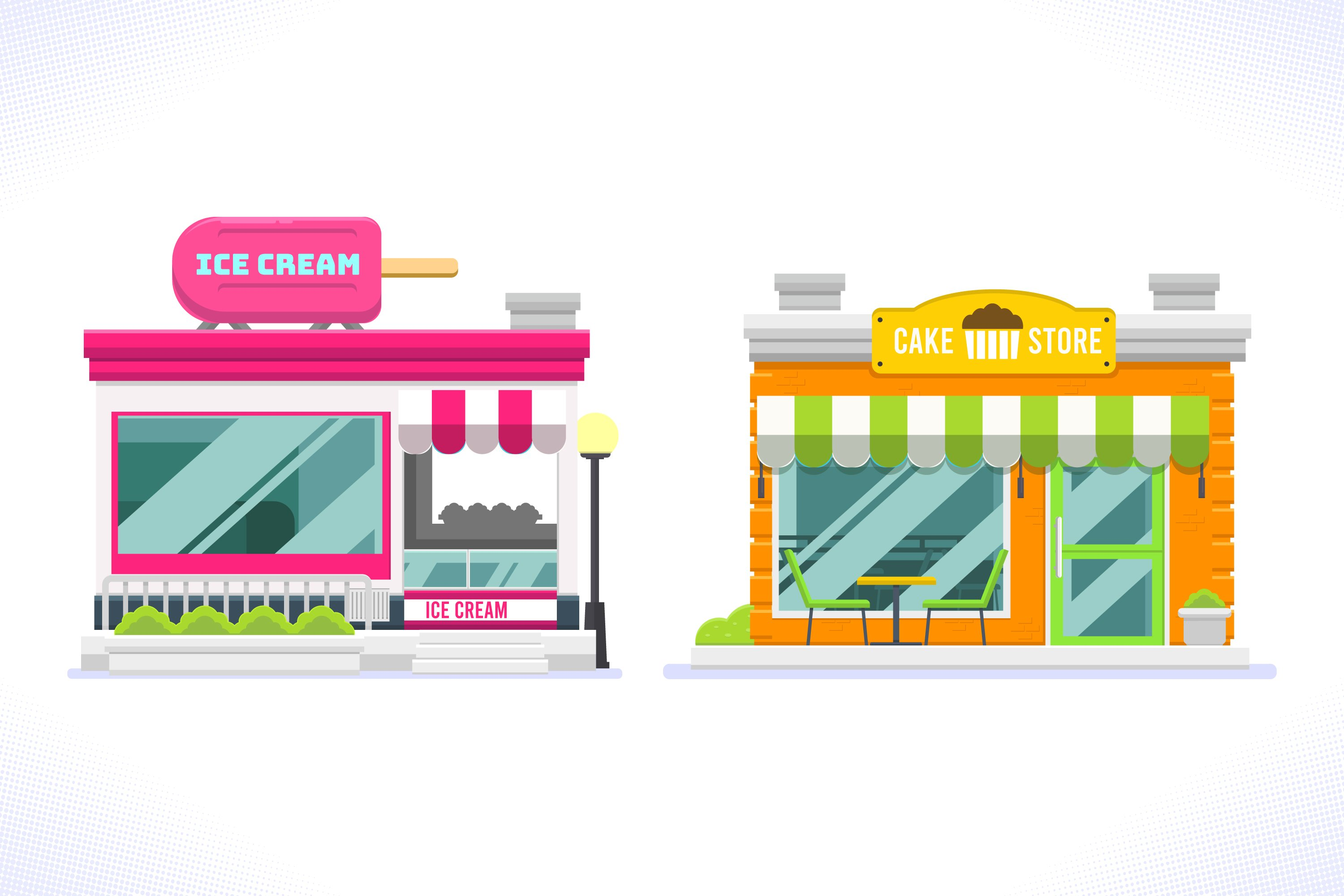 Store Facades Set example image 1